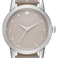 kate spade new york 'mini metro' leather strap watch, 26mm | Nordstrom