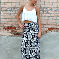 Paisley in Paris Maxi Skirt