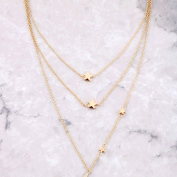 Starry Nights Layered Necklace