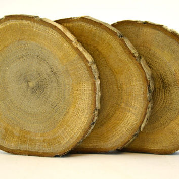 100 Slices of Oak Tree Wood Coasters for rustic wedding decors, home wooden decors, wood slice, oak wood disc for wood crafts