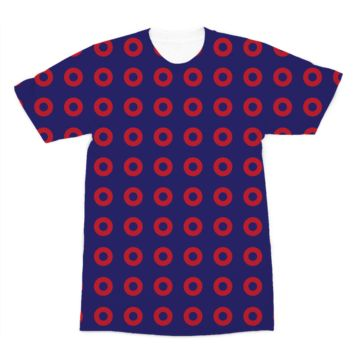 Red Circle Donut Premium Sublimation Adult T-Shirt