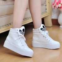New Casual Women Girls High Platform Lace Up Athletic Sneaker Trainer Shoes Size