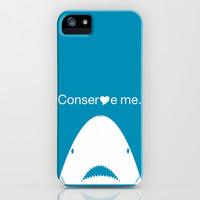 Shark Love (simple) iPhone & iPod Case by Cleverly Designed