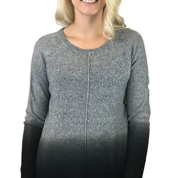 Tribal Grey & Black Ombre Sweater