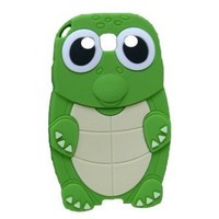 Green Funny Lovely 3d Turtle Tortoise Silicone Skin Soft Rubber Silicone Shell Case Cover for Samsung Galaxy S 3 S3 III I9300