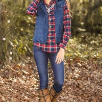 A Night In The Mountains Vest-Navy