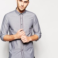 ASOS Smart Shirt In Long Sleeves With Contrast Trim at asos.com