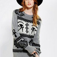 Urban Outfitters - MINKPINK X UO Intazia Eyes Pullover Sweater