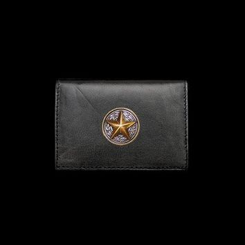 Texas Star Leather Business Card Holder