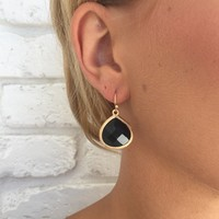 Viva Glam Black & Gold Teardrop Earrings