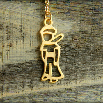 The Little Prince / Le Petit Prince Cutout Necklace, Available in Silver and Gold