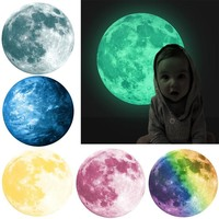 30cm 3D Large Moon Wall Sticker Removable Glow In The Dark Sticker