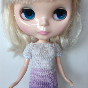 Knit Blythe Dress, Neo Blythe Dress, Knit Doll Dress, Neo Blythe Knit Dress, Knitted Dress, Cotton Knit Dress