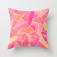 Honeysuckle Bliss Throw Pillow by Elisabeth Fredriksson