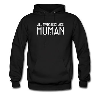 ALL-MONSTERS-ARE-HUMAN-WHITE_hoodie sweatshirt tshirt