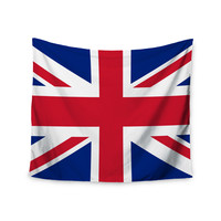 "Bruce Stanfield ""Classic Union Jack"" Blue Red Wall Tapestry"
