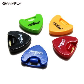 NEW  Durable 5Pcs/Set  Alice A010A Plastic Guitar Picks Holder Triangle Shape Accessories Case Box  Acoustic Electric Parts