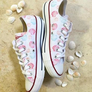 DCKL9 Save Our Mermaids Converse Low Top