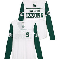 Michigan State University Athletic Long Sleeve Tee - PINK - Victoria's Secret
