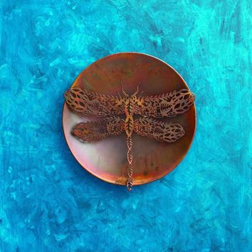 Filigree Dragonfly Wall Decor Disc