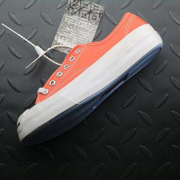 Converse Jack Purcell Fashion Canvas Flats Sneakers Orange