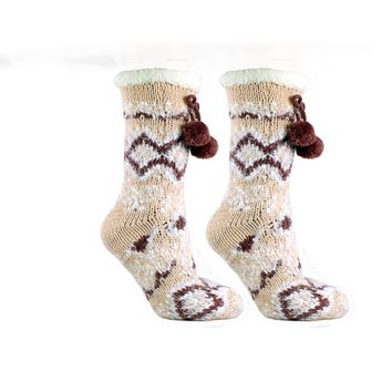 Women's Snow Falls Shea Butter Infused Lounge Socks One Size Fits Most White By MinxNY