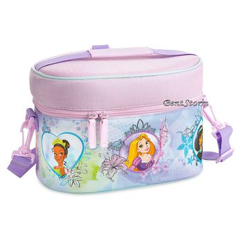 Licensed cool Multi Princess School Insulated Lunch Tote Box Bag Travel Case Disney Store NEW