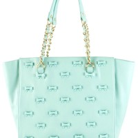 Betsey Johnson BJ29125 Mint Little Bow Chic Tote