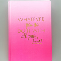 Hot Pink Inspiration Journal