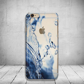 Water iPhone 6 Case Clear iPhone 6s Case Clear iPhone 6s Plus Case iPhone 5SE Case iPhone 6 Plus Case Soft Silicone iPhone Case No: 67