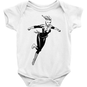 captain marvel 8 Baby Bodysuit