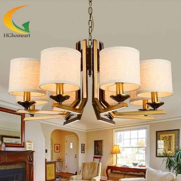minimalist living room American Pastoral chandeliers living room ceiling lights bedroom lamp restaurant chandelier Led