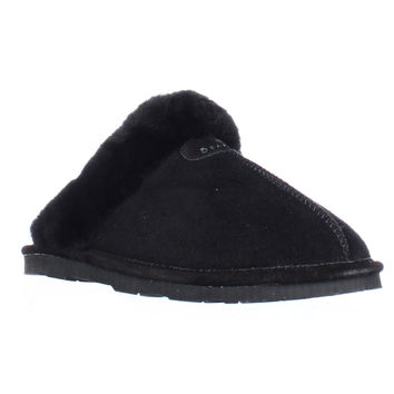 Bearpaw Loki Shearling Lined Mule Slippers - Black