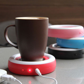 Winter Warm Portable USB Electronic Warmer Coffee Milk Tea Cup Heating Pad Plate
