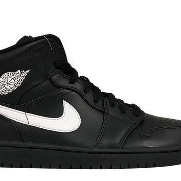 "Air Jordan 1 Mid ""Black/White"""