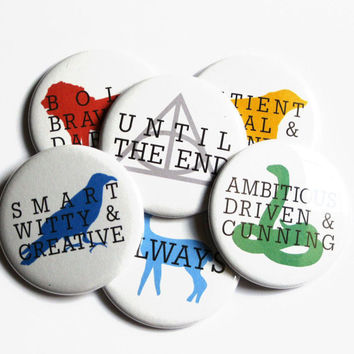 Harry Potter Buttons Clothes Accessory Hogwarts Pinback Buttons