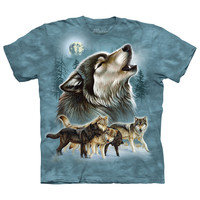 The Mountain Men's  Old School Wolf Collage T-shirt