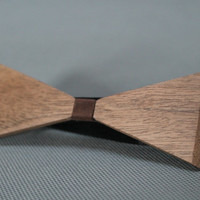 Wood&Leather bow-tie for men and women/handmade/ wooden/design/original gift/classic accessories/