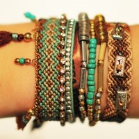 Hipanema Turquoise Bracelet - Buy this beautiful brown and aqua holiday jewellery at Coco Bay