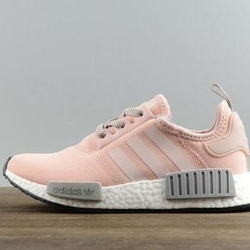 Adidas NMD Fashion Women Pink Grey Casual Running Sports Shoes Sneakers I