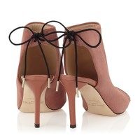 Terracotta Suede and Patent Sandal Booties   Fortis   Spring Summer 15   JIMMY CHOO Shoes