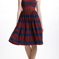 Girls From Savoy Oxidized Medallions Dress in Blue Motif Size: Xs Dresses