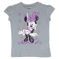 MINNIE MOUSE Girls Toddler T-Shirt   of-2T-3T-4T-b-mn115