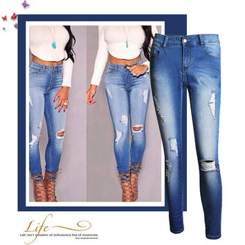 Women's Fashion High Waist Denim = 4815063300