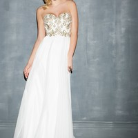 Night Moves 7000 Strapless Sweatheart Gown