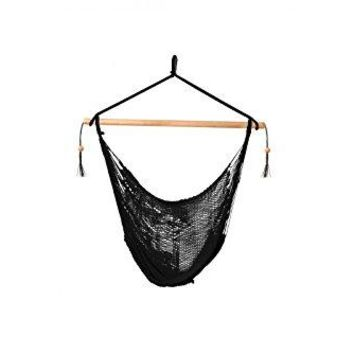 Laid Back - Easy hang Island Rope Hammock Chair - Black