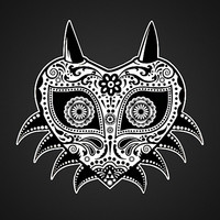Sugarskull / Majoras mask / black'n'white Art Print by Tshirtsz