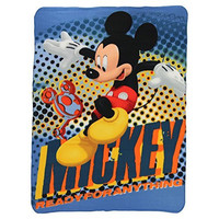 """Kids Fleece Throw Blankets 46"""" x 60"""" Several Options (Mickey Mouse Club House)"""