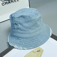 2017 Fashion Unisex Floppy Ripped Denim Flat Bucket Hat Stylish Women Bob Cap Men Hip Hop Caps Sun Protection Fisherman Hats