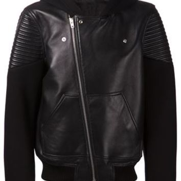 Givenchy Leather Bomber Jacket - Degli Effetti Men - Farfetch.com